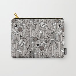 Books: Through the rabbit hole_Warm Gray Carry-All Pouch