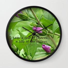 Song of Solomon 2:1 Wall Clock