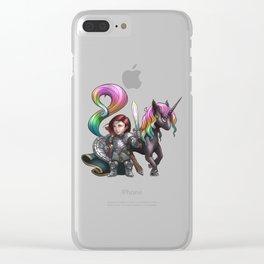 Aurelia The Crusader Clear iPhone Case