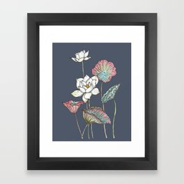 Lotus Symphony Framed Art Print