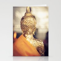 buddhism Stationery Cards featuring Buddha the other side  by Maria Heyens
