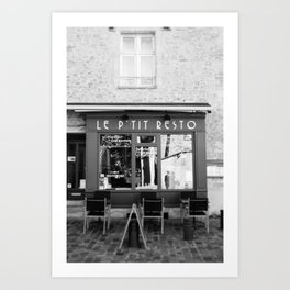 Le P'tit Resto  //  France - travel photography Art Print