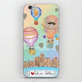 I {❤} Hot Air Balloon iPhone Skin