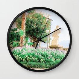 Italian Villa Lake Como Italy Wall Clock