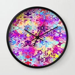 Floral Batik Wall Clock