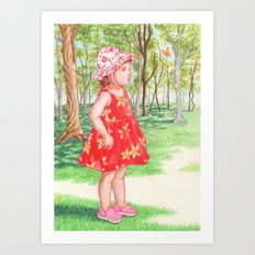 Little Miss Butterfly Art Print