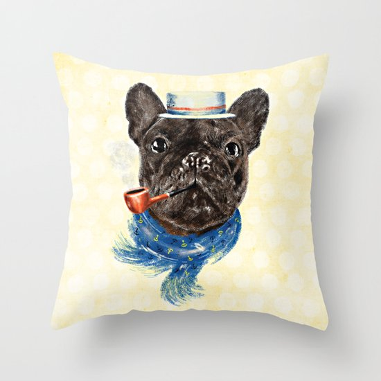 Mr.Fransk Throw Pillow