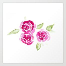 Cheerful Rose Art Print