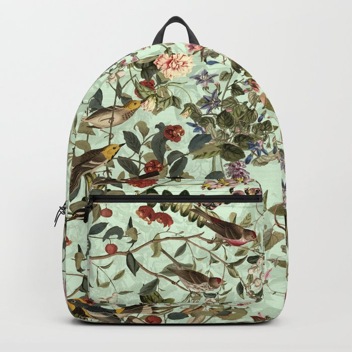 Floral and Birds X Backpack