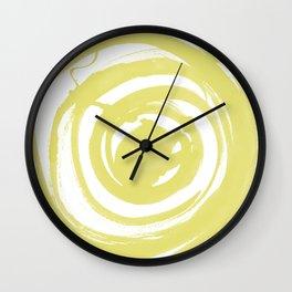 Swirl Ochre Wall Clock