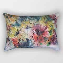 Asters + Peonies Rectangular Pillow