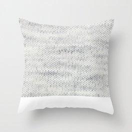 Gray Wool Throw Pillow