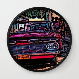 Old american car in Trinidad, Kuba Wall Clock