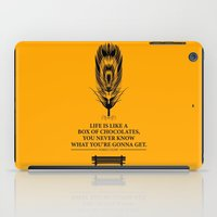 forrest gump iPad Cases featuring Lab No. 4 - Forrest Gump Inspirational Typography Quotes Poster by Lab No. 4
