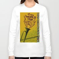 south africa Long Sleeve T-shirts featuring World Cup: South Africa 2010 by James Campbell Taylor