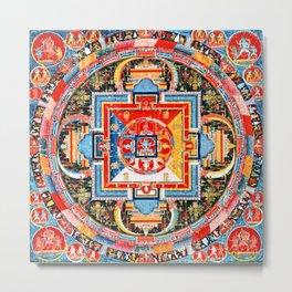 Mandala Buddhist 6 Metal Print