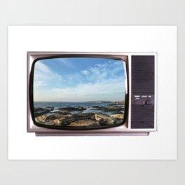 TV Travels   Newport, RI Art Print