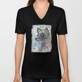 Blue Eyed Dog Unisex V-Neck