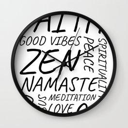 Yoga, Meditation, Zen, Spiritual, Peace Wall Clock