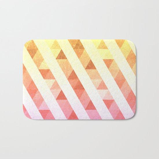 Triangles Lines Pattern Bath Mat