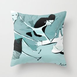 Underwater Party Throw Pillow
