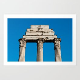 Temple of Castor and Pollux in Rome Art Print