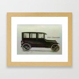 1921 Chevrolet Framed Art Print