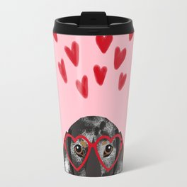 Dachshund dog breed pet art valentines day doxie must haves Travel Mug