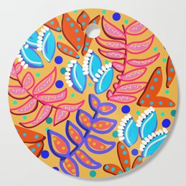 Whimsical Leaves Pattern Cutting Board