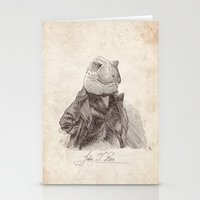 bouletcorp Stationery Cards featuring John T. Rex by Bouletcorp