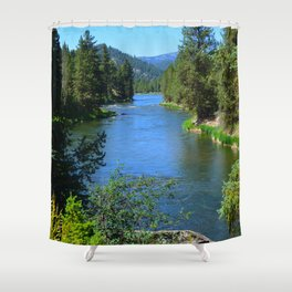 Payette River Scene ~ II Shower Curtain