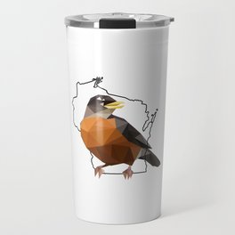 Wisconsin – American Robin Travel Mug