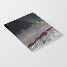 The Extasy Of Gold - Abstract landscape resin art Notebook