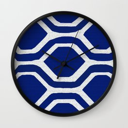 Blue and White and Bold Wall Clock
