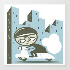 Scooter Boy Canvas Print