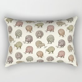 Hungry Kiwis – Cool Earth Tones Rectangular Pillow