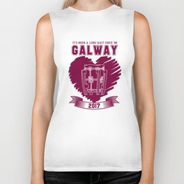 All Ireland Senior Hurling Champions: Galway (White/Maroon) Biker Tank