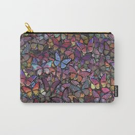 butterfly kaleidoscope square Carry-All Pouch