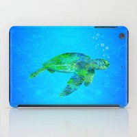 sea turtle iPad Cases featuring Sea Turtle  by MacDonald Creative Studios