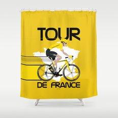 Tour De France Shower Curtain