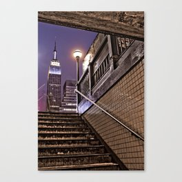 Empire State Subway - New York Photography Canvas Print