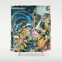 Art Graffiti vintage 4 Shower Curtain