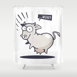 Scared Cow! Shower Curtain