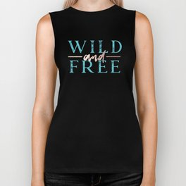 Wild and Free Turquoise Rose Gold Biker Tank