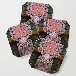 Sunset Mandala Hexagonia (Geometric Remix) Coaster