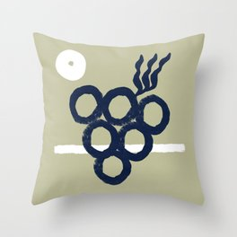 The grape in a sunny summer day #603 Throw Pillow