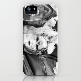 Venetian carnival mask D - Lady Nature iPhone Case