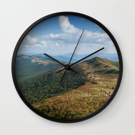 Bieszczady Panorama Wall Clock