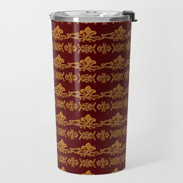 Baroque style retro floral pattern Travel Mug
