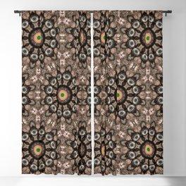 Ammonite with a geometric kaleidoscopic design Blackout Curtain